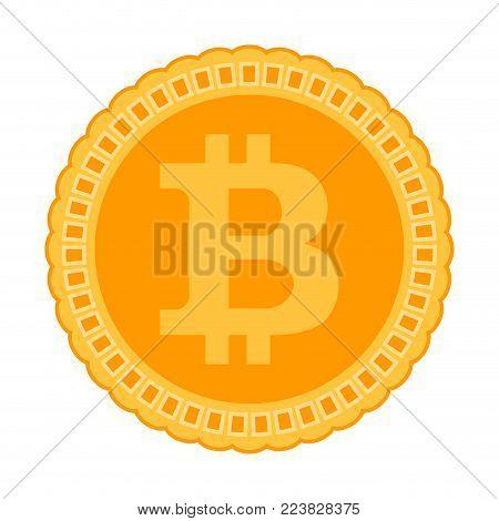 Bitcoin Icon. Crypto Coin Vector