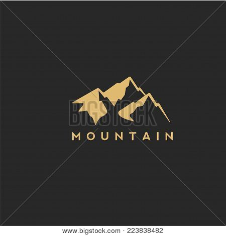 Black and Golden mountain with beautyfull Vector illustration designing.