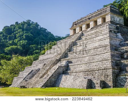 Temple of Inscriptions, Palenque archaeological site, Chiapas, Mexico
