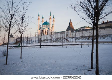 The image of the Kazan Kremlin. Kazan. Tatarstan. Russian Federation.