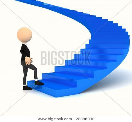 Professional carrier stair over white