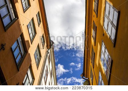 View Of Old Town Street In Stockholm