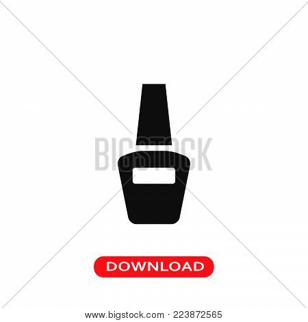 Nail polish icon vector in modern flat style for web, graphic and mobile design. Nail polish icon vector isolated on white background. Nail polish icon vector illustration, editable stroke and EPS10. Nail polish icon vector simple symbol for app, logo, UI