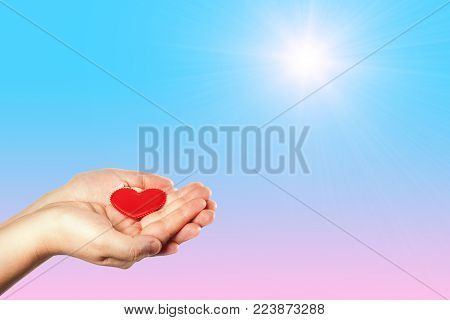 Do good things. Create well deeds. Charity and miracle. To make people happy. Charitable foundation. Helping hand. Give love. Isolated background.