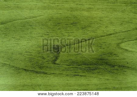 Green Wooden texture, empty wood background, cracked surface.