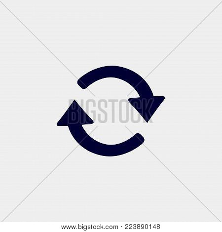 refresh icon, vector illustration. arrow icon vector
