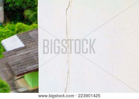 wall concrete cement  texture outside building high with cracks