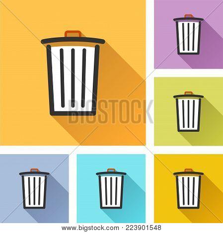 Illustration of delete colorful design set icons