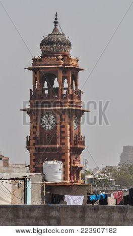 View Of Ghanta Ghar (clock Tower) In Jodhpur, India.