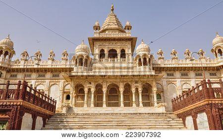 Main Hall Of Jaswant Thada In Jodhpur, India. Jaswant Thada Was Built By Maharaja Sardar Singh Of Jo