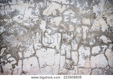 texture cracked white wall from rain, substrate, background for your collage