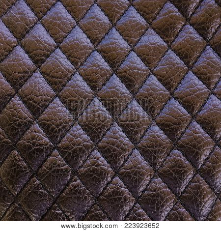 Old black leather texture background. Organic leather background. Black natural leather texture