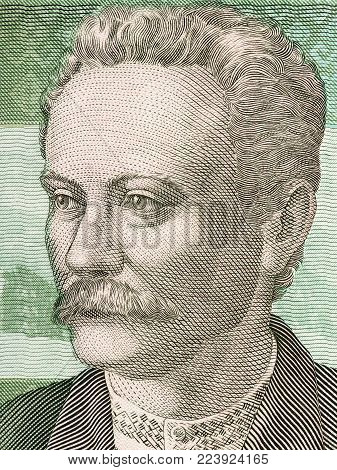 Ivan Franko portrait from Ukrainian money - Hryvnia