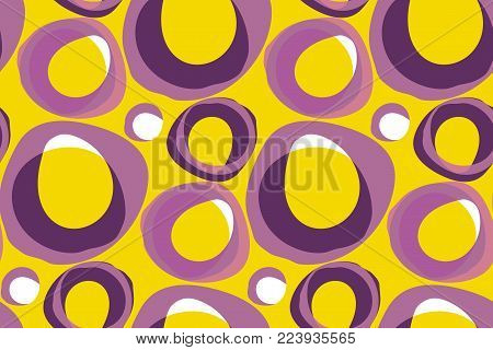 Retro 60s background pattern vector illustration. Vintage 1970s geometric graphic abstract seamless pattern.
