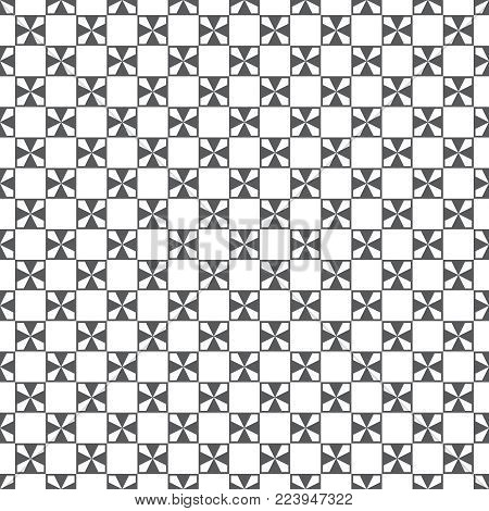 Plaid seamless pattern. Classical tablecloth texture. Checkered fabric background. Regularly repeating geometric checks with crosses. Geometrical cover surface.