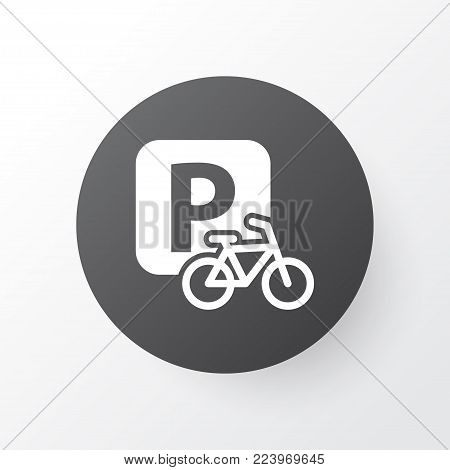 Velocipede icon symbol. Premium quality isolated parking for bike element in trendy style.