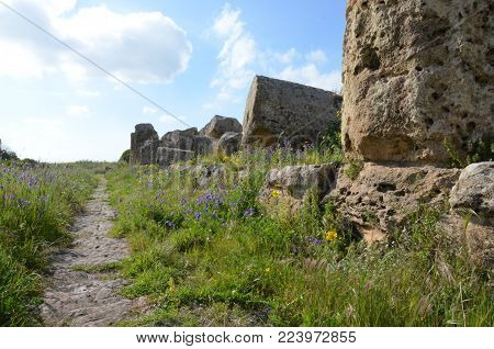 The beautiful Selinunte archaeological site, Sicily - Italy