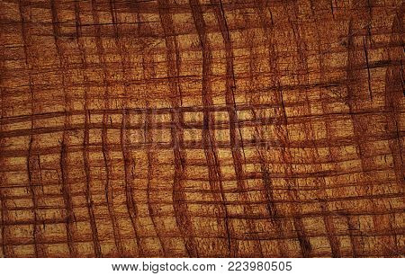 texture of the old brown board, closeup