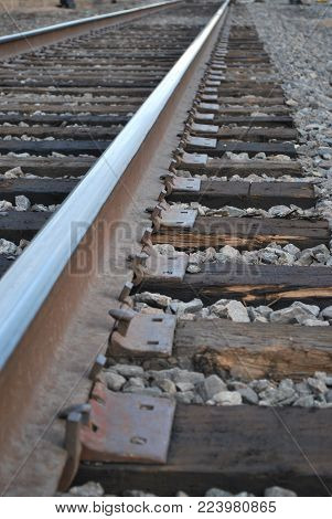 close up of railroad track showing the distance the track goes and where life might take you