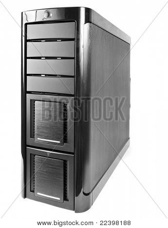 modern corps of computer isolated on white background