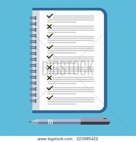 To do list icon. Design icon do list, a checklist, task list. To do list theme vector illustration in flat style. Reminder concept icon.