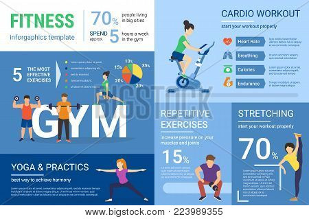 fitness infographics vector photo free trial bigstock
