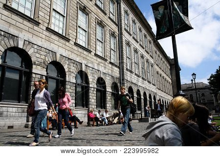 July 26th, 2011, Dublin, Ireland - Trinity College, officially the College of the Holy and Undivided Trinity of Queen Elizabeth, is the sole constituent college of the University of Dublin.