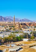 Al Sahaba mosque in Sharm El Maya district is one of the main landmarks of resort, Sharm El Sheikh, Sinai, Egypt. poster