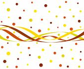 Funky abstract waves and circles in autumn colors poster