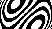 Abstract CGI motion graphics and animated background with white and black figures. Hypnotic spiral illusion seamless looping. Hypnotic spiral illusion seamless looping. poster