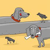Vector Illustration The Cartoon Dog Dachshund Caricature poster