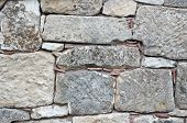 texture of ancient stone walls as a background poster