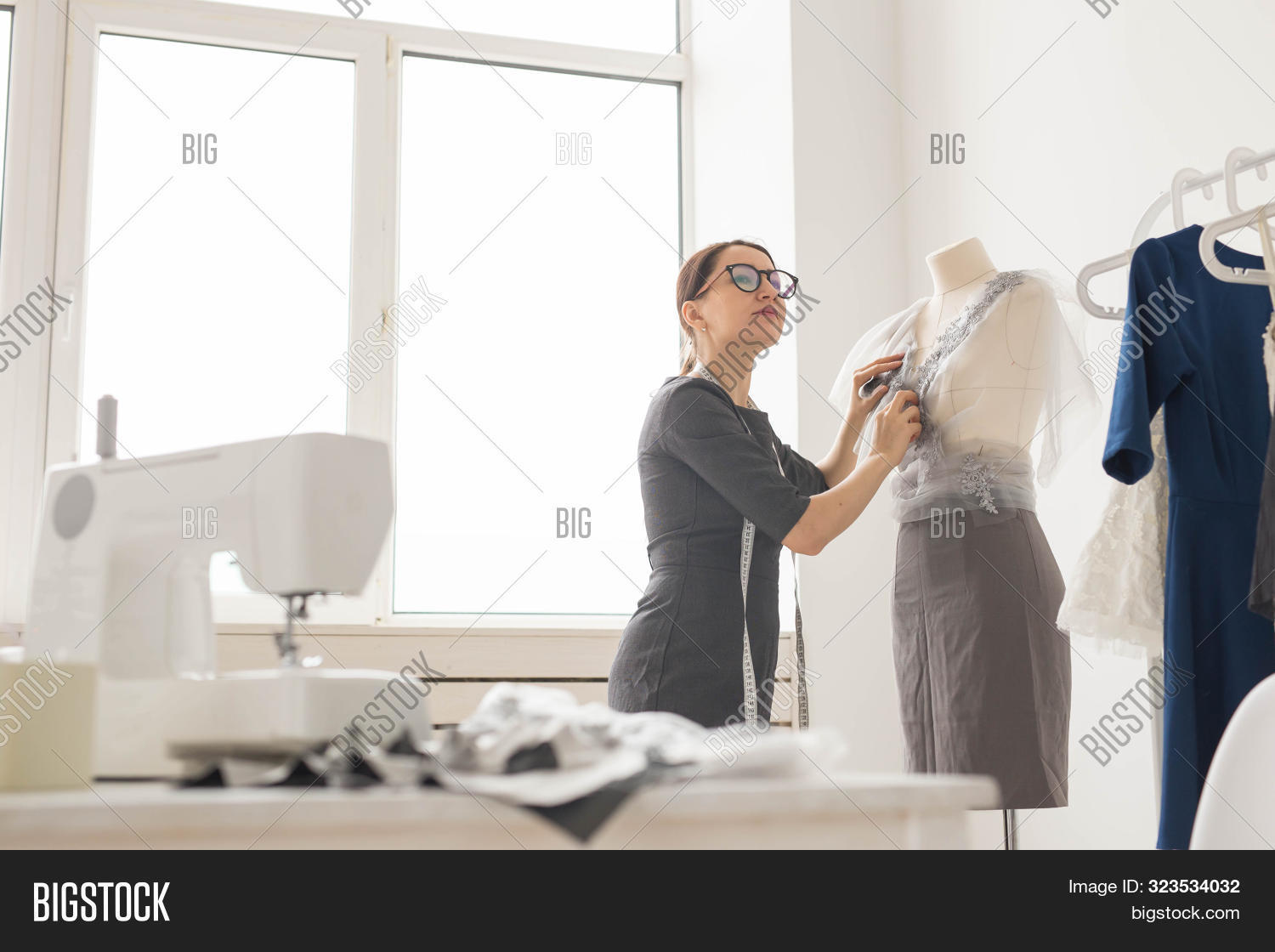 Dressmaker Tailor Image Photo Free Trial Bigstock