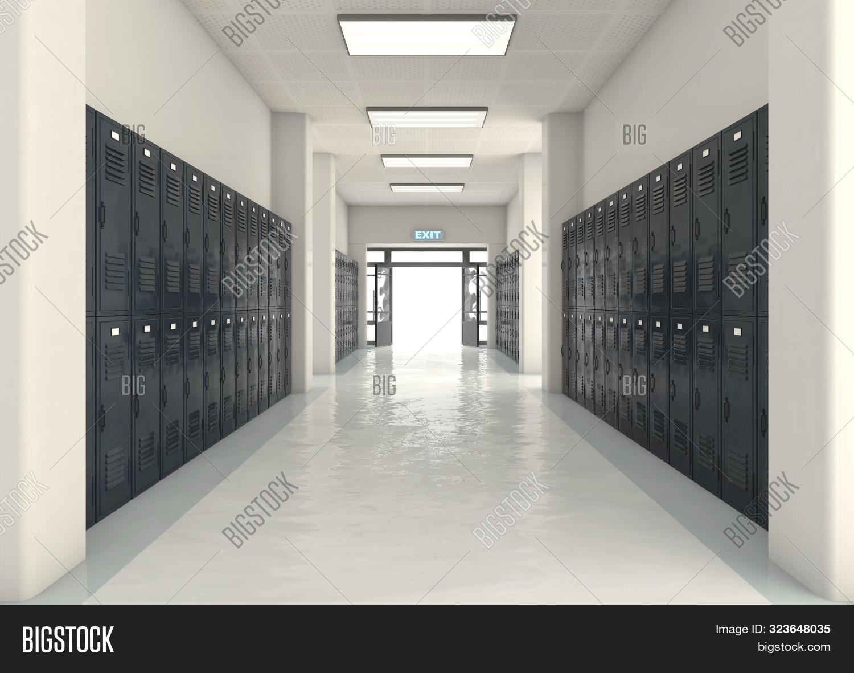 School Locker Exit Way Image Photo Free Trial Bigstock