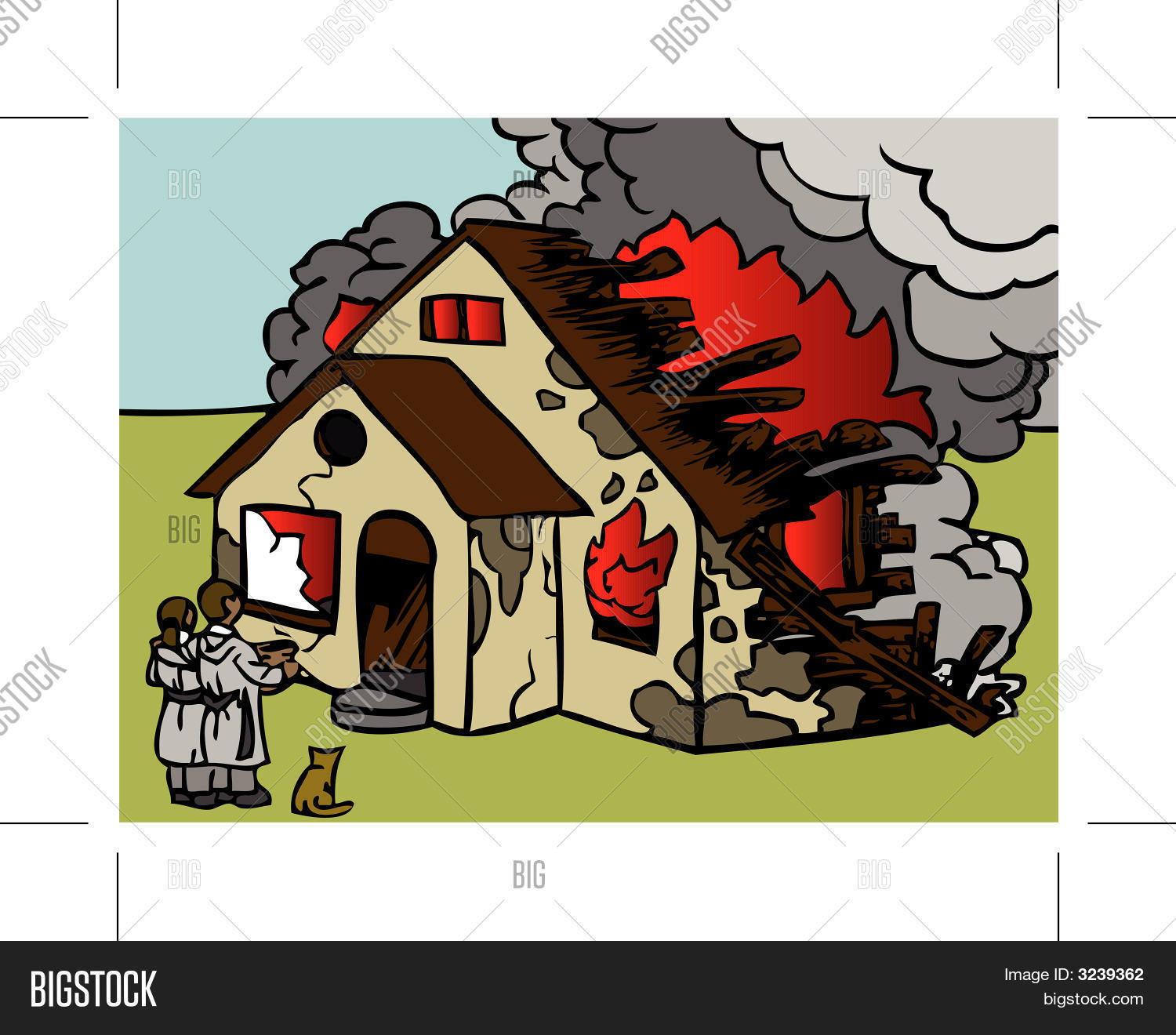 House On Fire Vector Photo Free Trial Bigstock