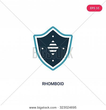rhomboid icon in two color design style.