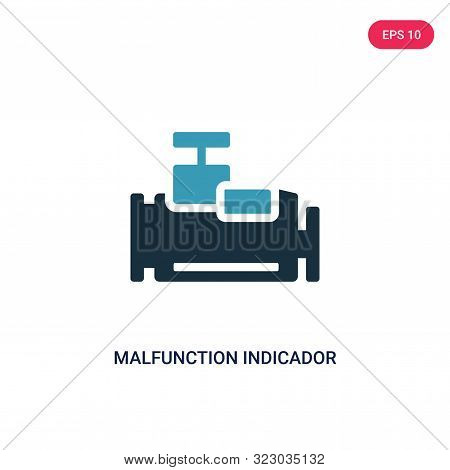 malfunction indicador icon in two color design style.