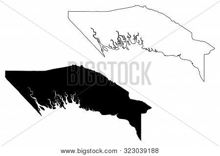 Gulf Province (independent State Of Papua New Guinea, Png, Provinces Of Papua New Guinea) Map Vector