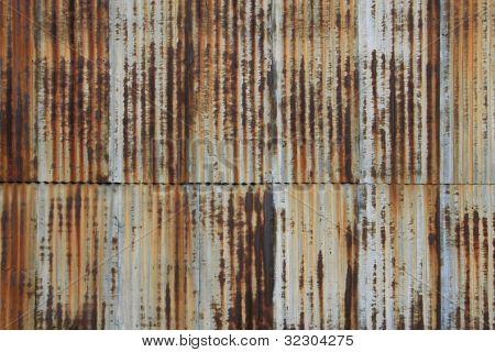 Rusted, Vintage, Corrugated Metal