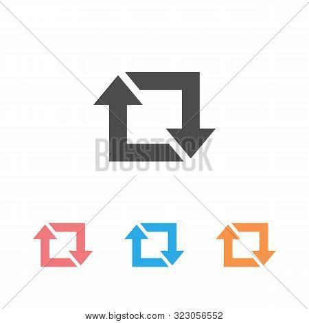 Repost Icon Set, Repost Symbol, Repost Sign. Vector Illustration