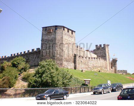 Wonderful Medieval Style Ponferrada Castle Dated In The 12th Century In Ponferrada. August 7, 2011.