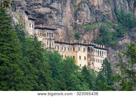 Historical Sumela Monastery At Trabzon, In Turkey