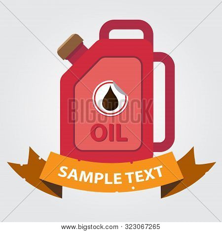Jerrycan Oil Icon. Vector Illustration On Gray Background.