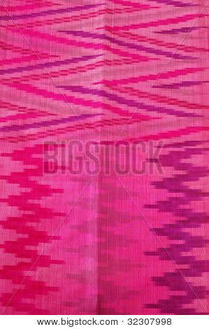 details woven silk sarong bugis's Indonesia isolated on white poster