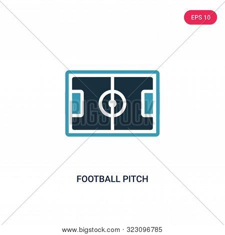 football pitch icon in two color design style.