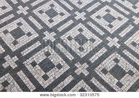 Granite Cobblestoned Pattern Background