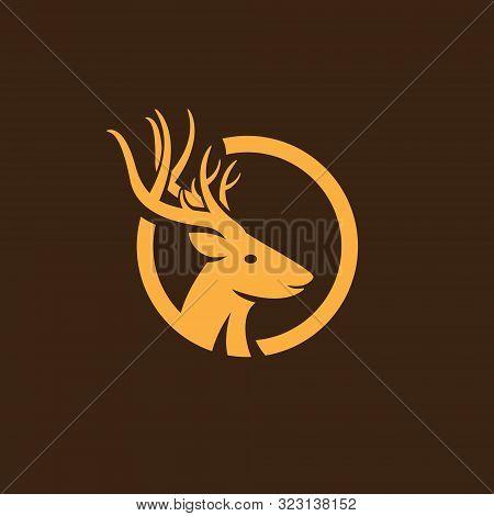 deer. deer logo. deer icon. circle deer logo. Deer head logo,  deer png. deer logo icon. deer simple. creative Deer head silhouette monogram Logo concept, deer head on circle logo, deer head with beautiful antler