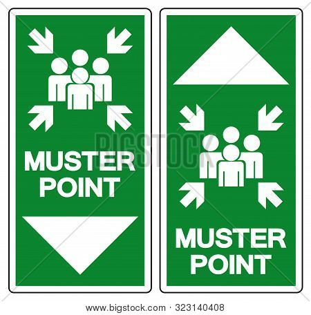 Muster Point Symbol Sign, Vector Illustration, Isolated On White Background Label .eps10
