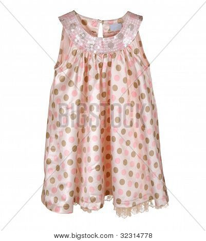 Pink Girl's Dress Isolated On White