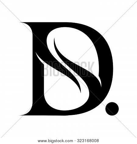 Letter D Vector Design Template, Logo D Emblem, D Design Vector Image, D Logo On White Background, D